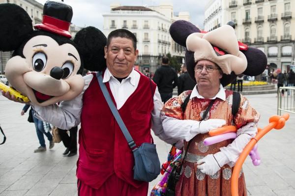 Personajes disfrazados Plaza Mayor